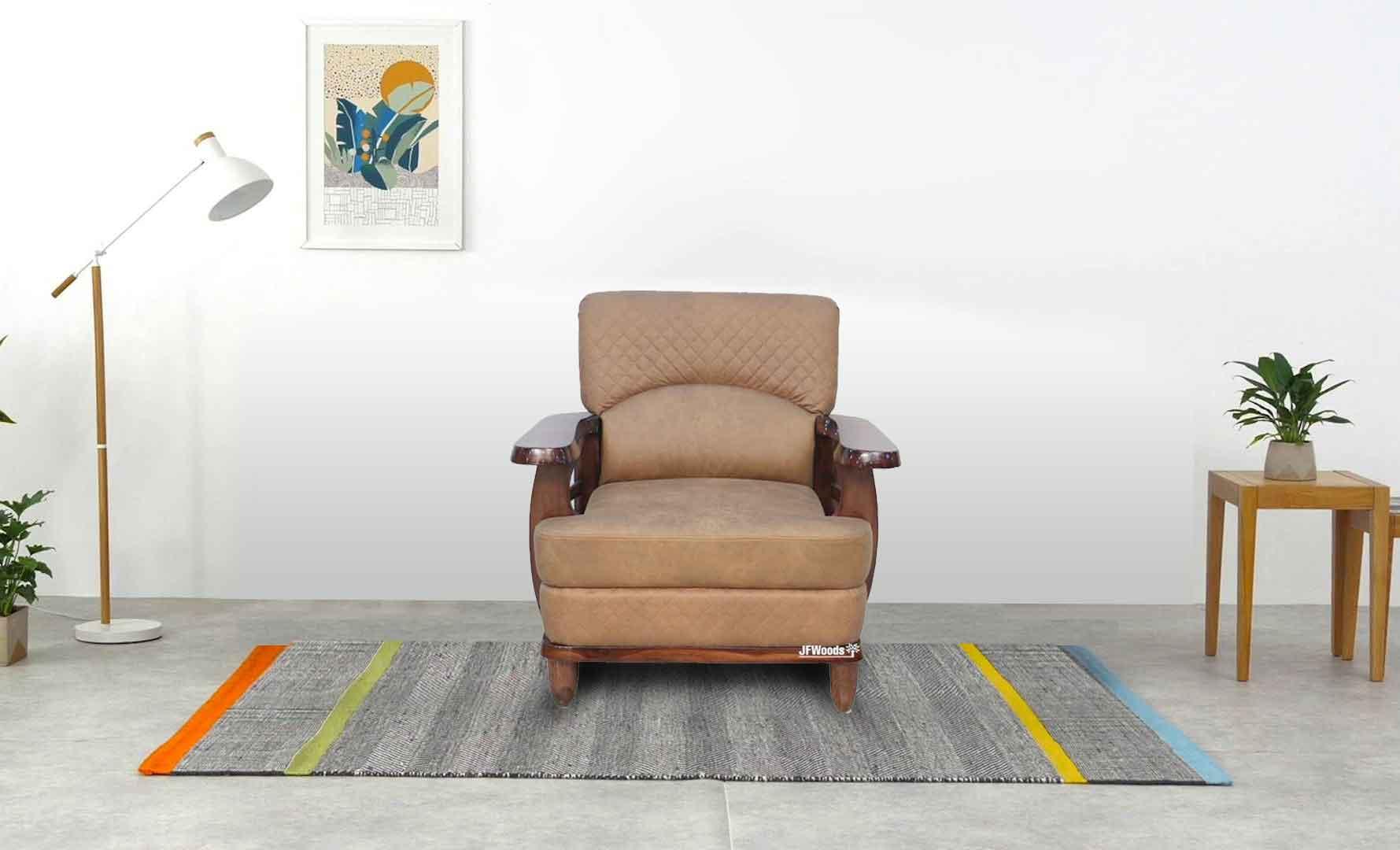Oscar One Seater Teak Wood Sofa By Jfwoods